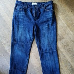 FREE PEOPLE relaxed fit black BOYFRIEND jeans 29